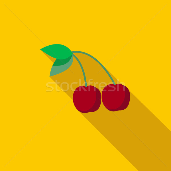 桜 アイコン スタイル 長い 影 フルーツ ストックフォト © ylivdesign