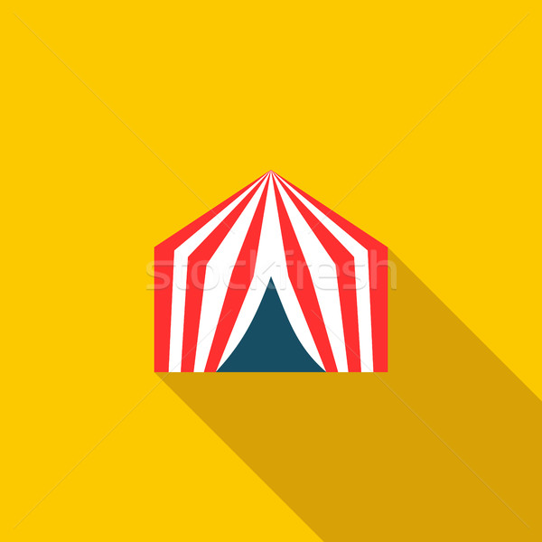 サーカス テント アイコン スタイル 黄色 パーティ ストックフォト © ylivdesign