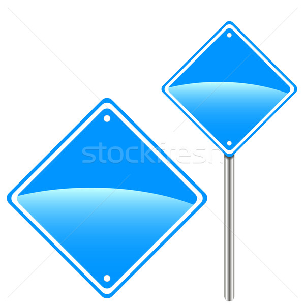 New road sign Stock photo © ylivdesign