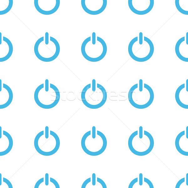 Unico potere bianco blu web design Foto d'archivio © ylivdesign