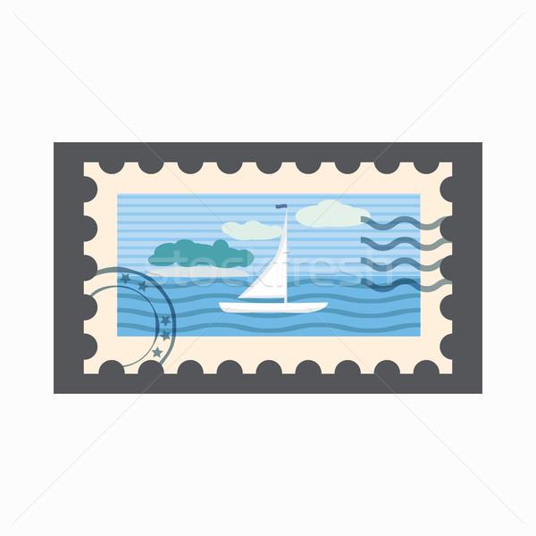 海洋 スタンプ アイコン 漫画 スタイル 孤立した ストックフォト © ylivdesign