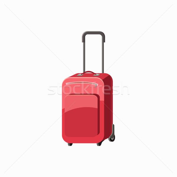 Travel luggage icon, cartoon style Stock photo © ylivdesign