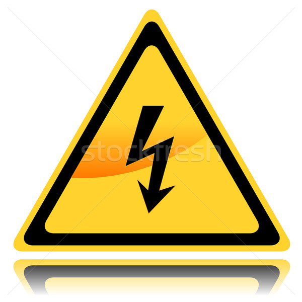 High voltage sign Stock photo © ylivdesign