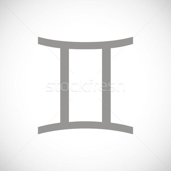 Gemini black icon Stock photo © ylivdesign