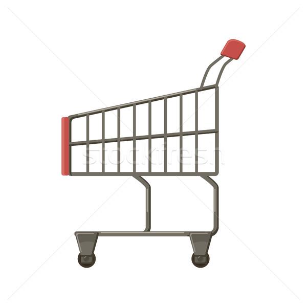 ショッピングカート アイコン 漫画 スタイル 白 ビジネス ストックフォト © ylivdesign