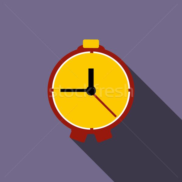 Tabeli zegar ikona stylu fioletowy czasu Zdjęcia stock © ylivdesign