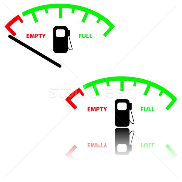 画像 ガス ゲージ 実例 車 赤 ストックフォト © ylivdesign
