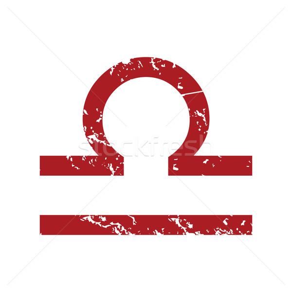 Red grunge Libra logo Stock photo © ylivdesign