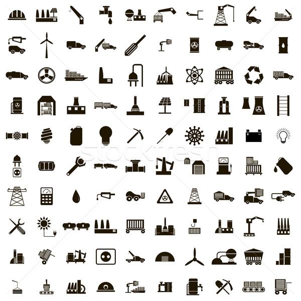 100 業界 孤立した 白 トラック ストックフォト © ylivdesign