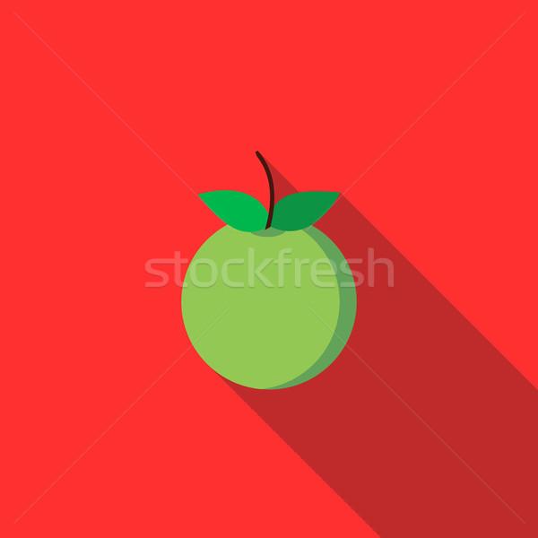 リンゴ アイコン スタイル 長い 影 食品 ストックフォト © ylivdesign