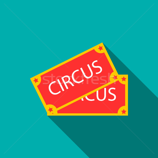 Circus show papier tickets icon stijl Stockfoto © ylivdesign