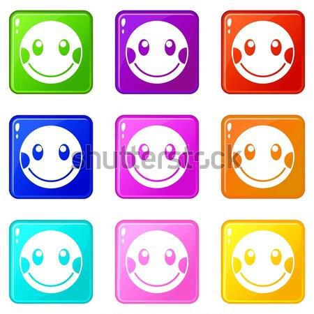 Glimlach gezicht web vector ontwerp Stockfoto © ylivdesign