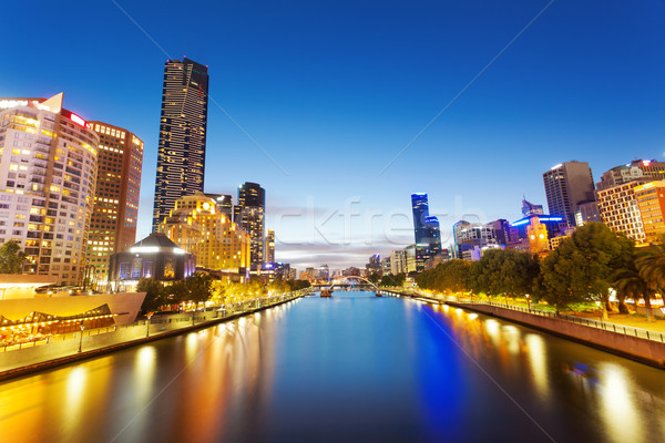 View of Yarra river in Melbourne, Australia Stock photo © ymgerman