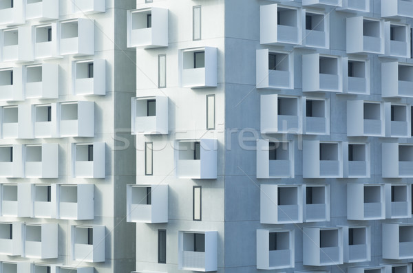 Stock photo: Modern apartment building with balconies