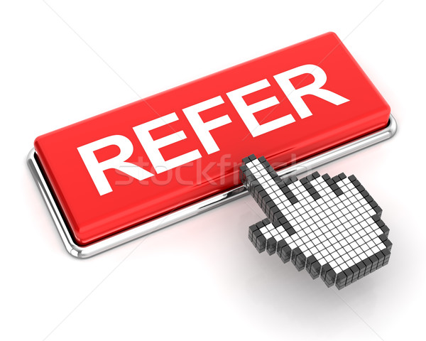 Clicking on refer button, 3d render Stock photo © ymgerman