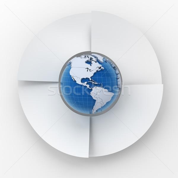 4 手順 サークル インフォグラフィック グラフ 世界中 ストックフォト © ymgerman
