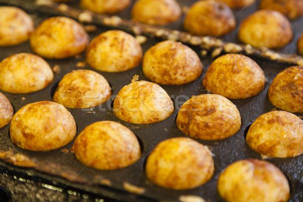 Takoyaki - Octopus ball, a popular Japanese street food Stock photo © ymgerman