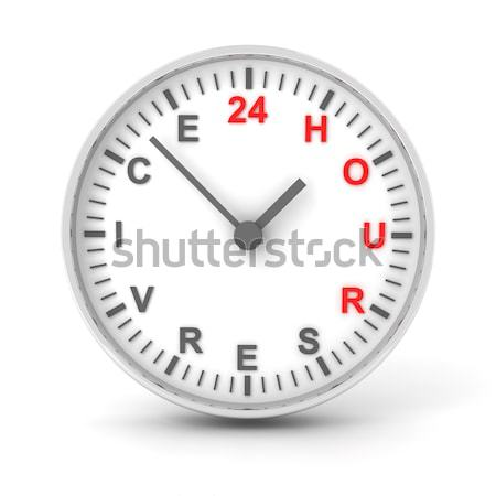 Clock with work overtime text, 3d render Stock photo © ymgerman
