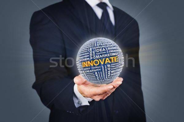 Iş yenilik işadamı top dizayn Stok fotoğraf © ymgerman
