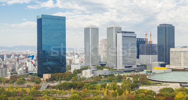 Modern binalar Osaka Japonya iş Stok fotoğraf © ymgerman