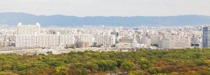 Panoramik görmek Osaka şehir Japonya Stok fotoğraf © ymgerman