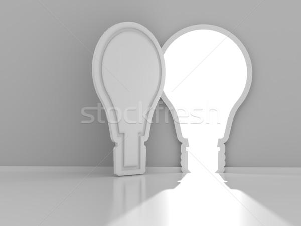 電球 ドア コピースペース 3dのレンダリング 抽象的な ストックフォト © ymgerman