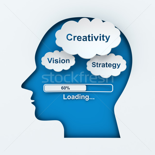 Stock photo: Loading creativity, vision and strategy