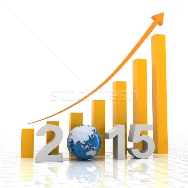 2015 global growth, 3d render Stock photo © ymgerman