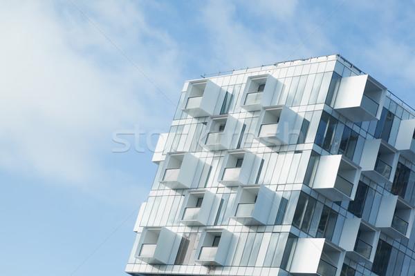 Modern beyaz soyut gökyüzü Bina Stok fotoğraf © ymgerman
