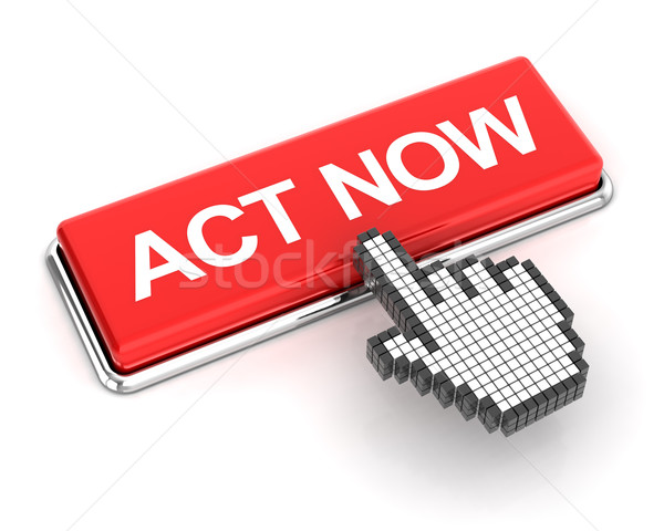 Clicking on act now button, 3d render Stock photo © ymgerman