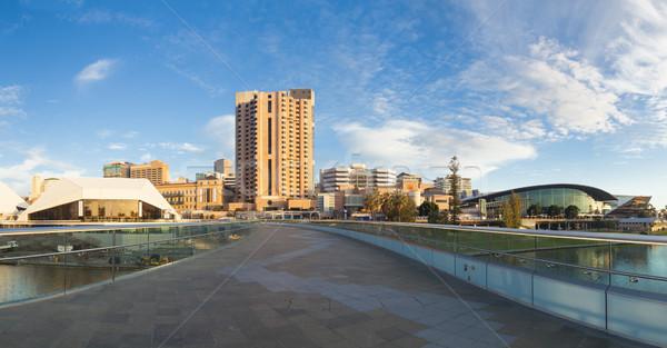 Аделаида город Австралия закат центра небе Сток-фото © ymgerman