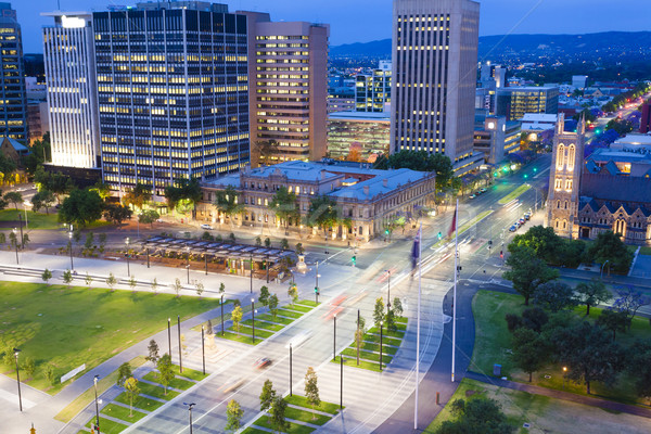 View of downtown area in Adelaide at twilight Stock photo © ymgerman