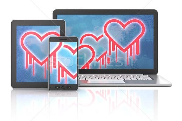 Heartbleed bug symbols on gadgets Stock photo © ymgerman