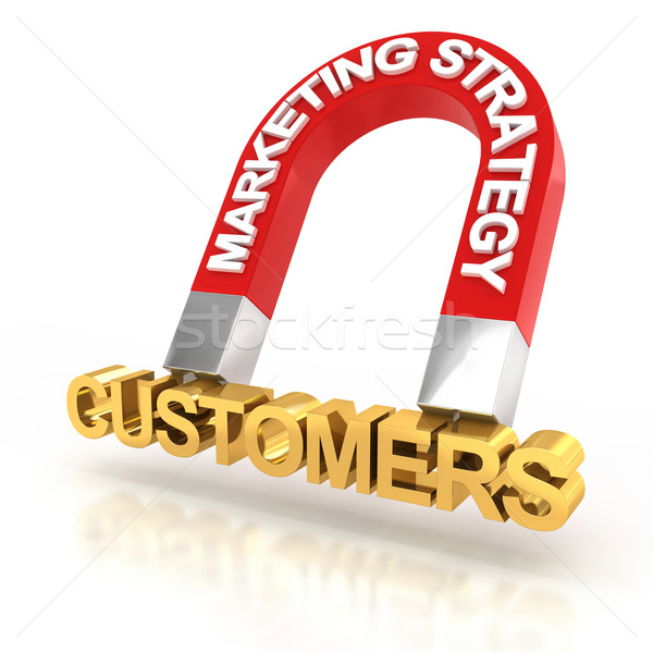 Marketing strategy to attract customers, 3d render Stock photo © ymgerman