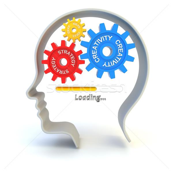 アイデア 戦略 3dのレンダリング 白 ビジネス ストックフォト © ymgerman