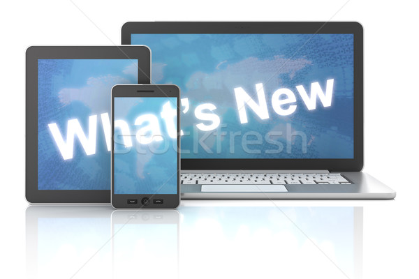 Nieuwe tablet smartphone 3d render witte laptop Stockfoto © ymgerman