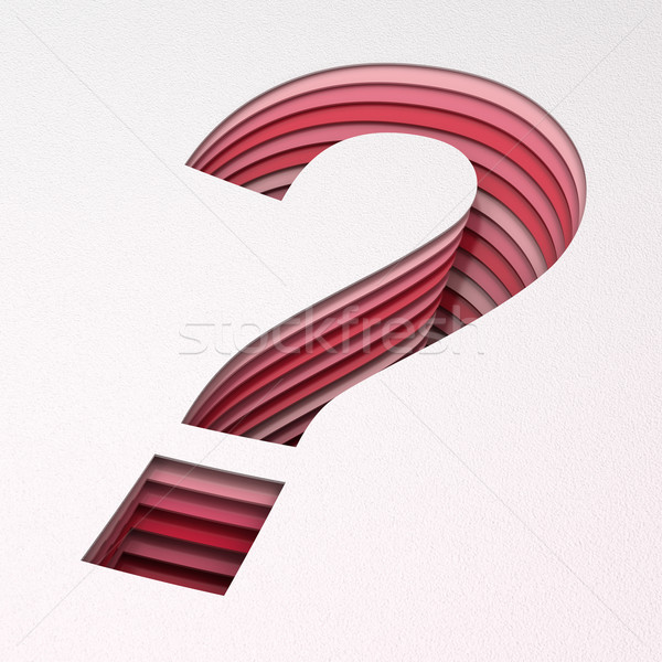 Question mark with layers of paper cut, 3d render Stock photo © ymgerman
