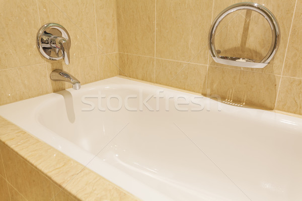 Bathtub in a luxurious hotel room Stock photo © ymgerman