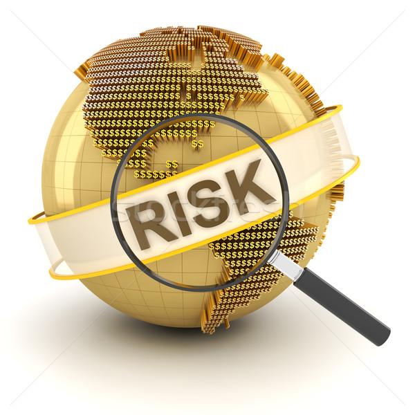 グローバル 金融 リスク 3dのレンダリング 白 世界中 ストックフォト © ymgerman