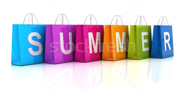 夏 販売 ショッピングバッグ 3dのレンダリング 白 ビジネス ストックフォト © ymgerman