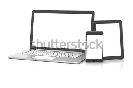 Tablet dizüstü bilgisayar bo 3d render Stok fotoğraf © ymgerman