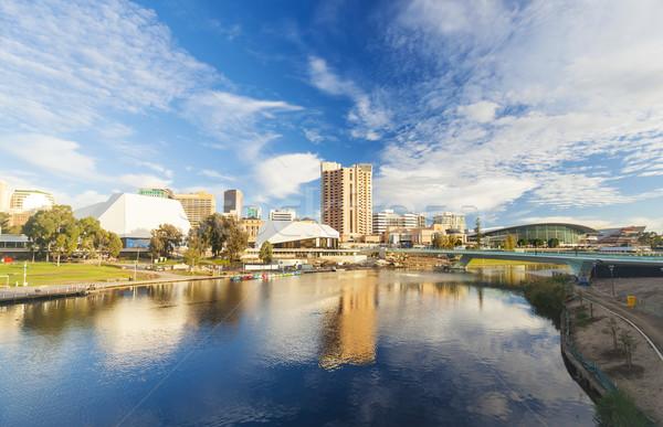 Adelaide stad Australië dag centrum hemel Stockfoto © ymgerman