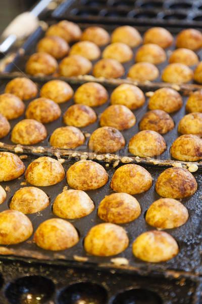 Polvo bola popular japonês comida de rua comida Foto stock © ymgerman