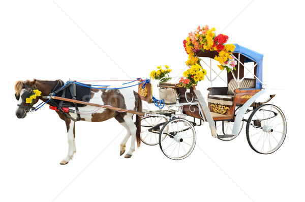 Horse Carriages isolated on white background Stock photo © Yongkiet