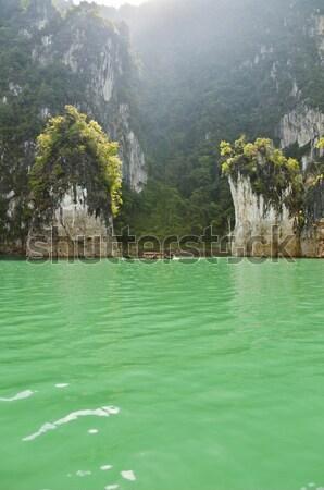 Viaggio isola verde lago Thailandia parco Foto d'archivio © Yongkiet
