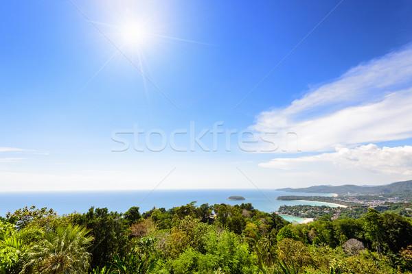 Yüksek görmek şapka phuket ada manzaralı Stok fotoğraf © Yongkiet
