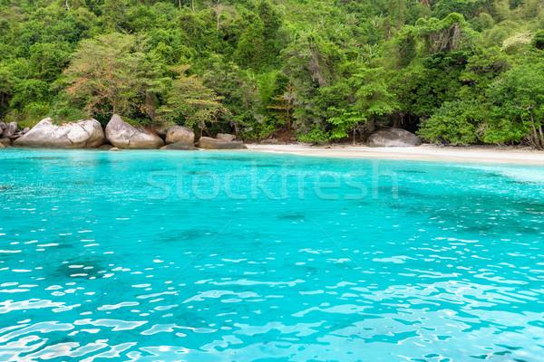 Huwelijksreis strand eiland Thailand mooie groene Stockfoto © Yongkiet