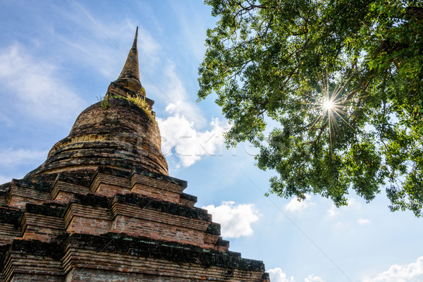 Ancient pagoda in Thailand Stock photo © Yongkiet