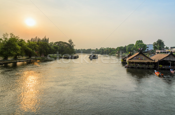 Kwai Yai River at sunset Stock photo © Yongkiet