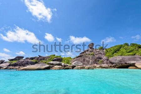 Kaya simge Tayland güzel manzara Stok fotoğraf © Yongkiet